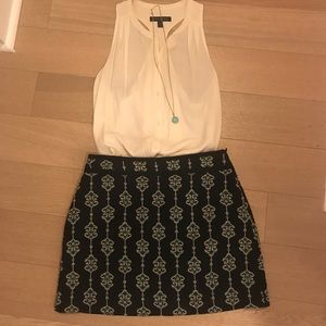 Zara Aztec Blues mini skirt